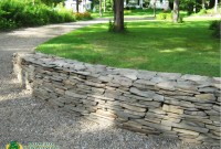 Stone Wall   Patio